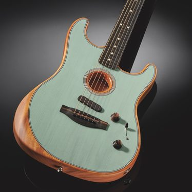 fender, acoustasonic, stratocaster, guitare électro acoustique