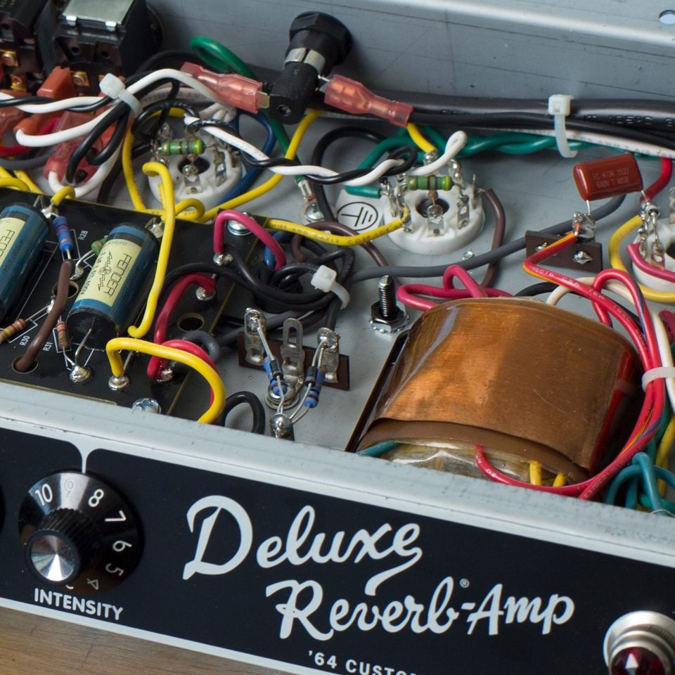 Fender 64 Custom Deluxe Reverb Amplifier Amps Wire Diagram 1990 Legacy Hand Wired Ab763 Circuit